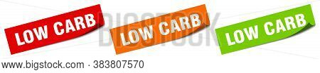 Low Carb Sticker. Low Carb Square Isolated Sign. Label