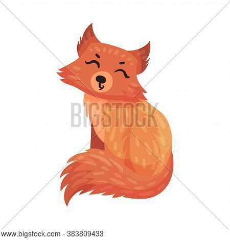 Orange Fox With Cute Muzzle As Carnivore Forest Animal Vector Illustration