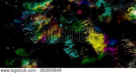 Dirty Splatter Paint. Cosmos Graffiti Background. Cosmos Dirty Decoration Illustration. Tie Dye. Cos