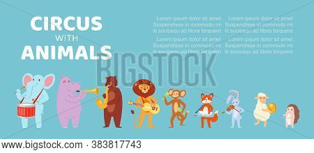 Circus With Animals, Music Banner, Poster Design, Background Information, Children S Music Event, Ca