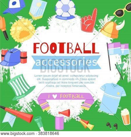 Football Background Paraphernalia Sport Bar, Flag Victory Championship Game, Fans Design, Cartoon St