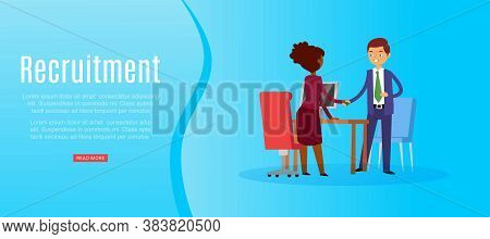 Recruitment Banner Inscription, Full-time, Search For Candidate, Business Career, Interview Hire, Ca