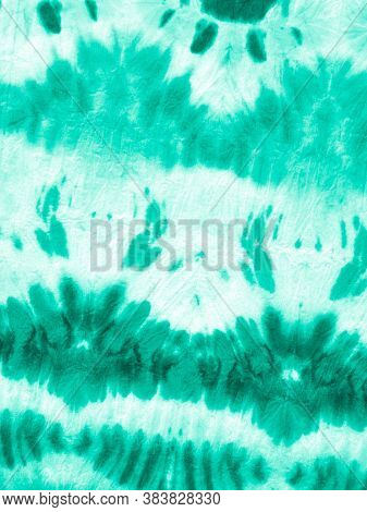Marine Shibori Texture. Ink Painted Zigzag. Abstract Colored Spots. White Paint Boho Ornament. Dirty