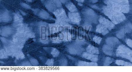 Night Tie Dye Style. Vintage Zigzag Print. Watercolour Poster. Ocean Handmade Artwork. Tie Dye Shirt