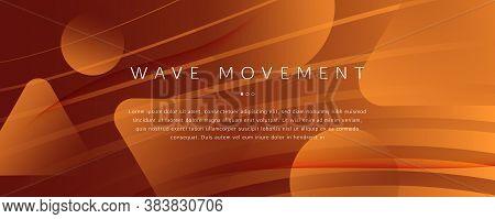 Vector Fluid Flow. Orange Geometric Movement. 3d Abstract Shape. Creative Banner. Yellow Fluid Flow.