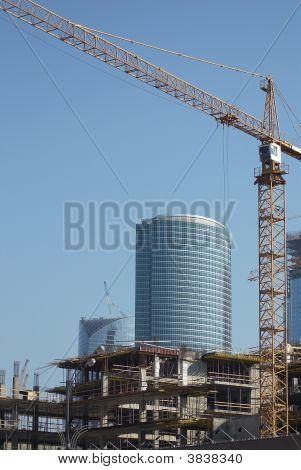 The Crane On Building
