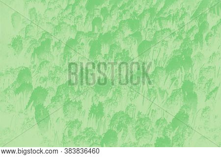 Green Abstract Background With Hyacinths Flowers Pattern. Floral Patchy Background, Pastel