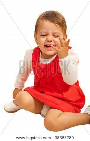 Toddler Girl Laughing Out Loud