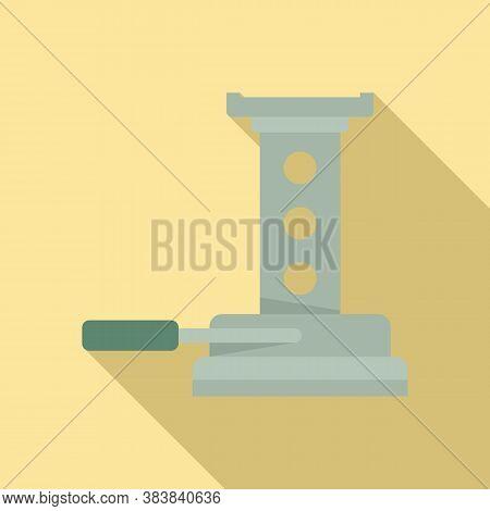 Maintenance Jack-screw Icon. Flat Illustration Of Maintenance Jack-screw Vector Icon For Web Design