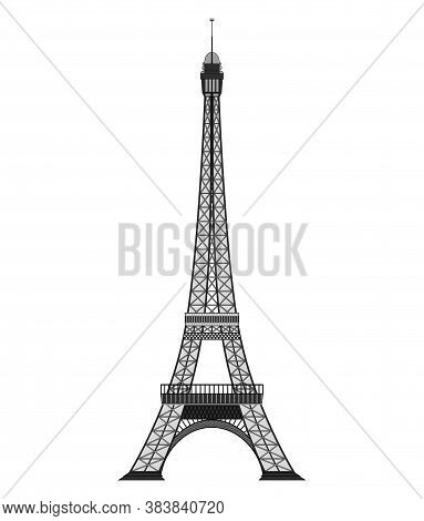 Tourist Attraction Paris Eiphil Tower Travel, Journey Concept. Famous Monuments Of World Countries.