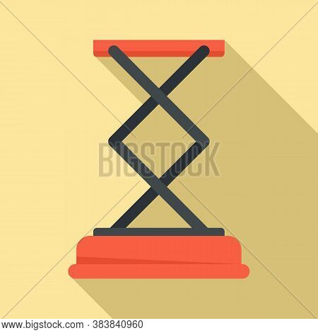 Jack-screw Stand Icon. Flat Illustration Of Jack-screw Stand Vector Icon For Web Design