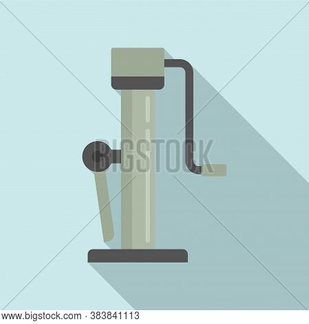 Hoist Jack-screw Icon. Flat Illustration Of Hoist Jack-screw Vector Icon For Web Design