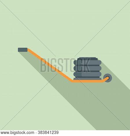 Pneumatic Jack-screw Icon. Flat Illustration Of Pneumatic Jack-screw Vector Icon For Web Design
