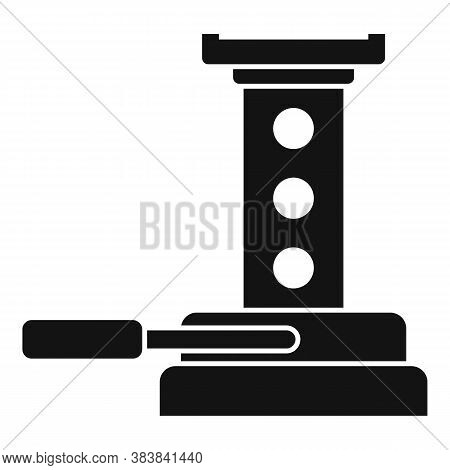 Maintenance Jack-screw Icon. Simple Illustration Of Maintenance Jack-screw Vector Icon For Web Desig