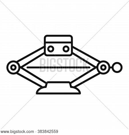 Equipment Jack-screw Icon. Outline Equipment Jack-screw Vector Icon For Web Design Isolated On White