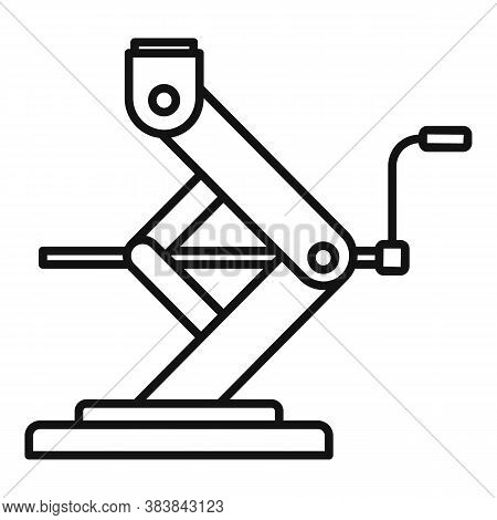 Car Service Jack-screw Icon. Outline Car Service Jack-screw Vector Icon For Web Design Isolated On W
