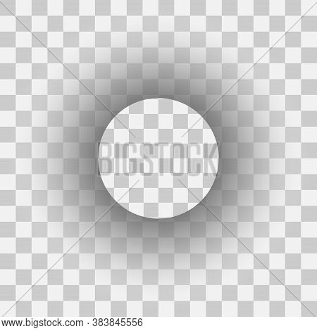 Realistic Transparent Circle Shadow. Shadow Label Template Effect.
