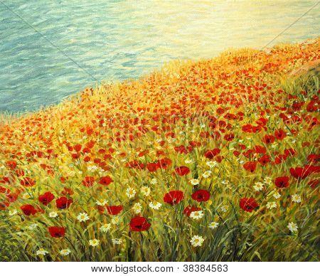 Poppies on The Seashore