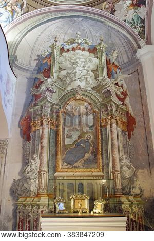 GORNJA STUBICA, CROATIA - JUNE 11, 2013: Chapel of St. Francis Xavier at Orsic Castle in Gornja Stubica, Croatia