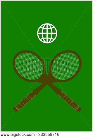 Vector Image Of A Tennis Tournament Poster.