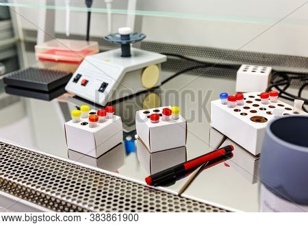 Laboratory Medical Equipment On Table