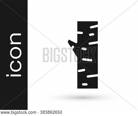 Black Birch Tree Icon Isolated On White Background. Vector