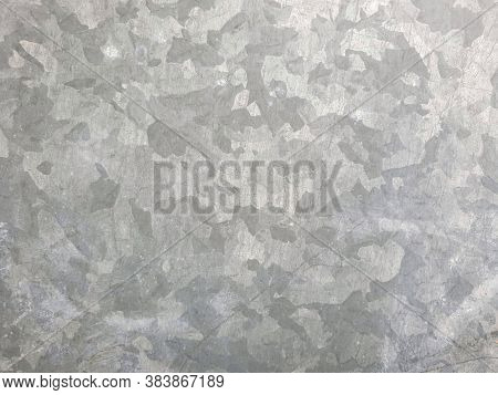 Zinked Metal Surface. Full Screen Image. Top View.