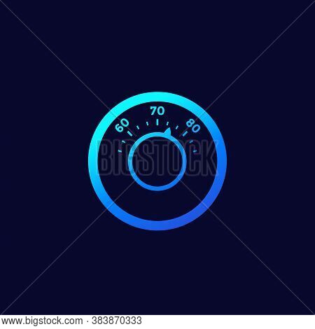 Thermostat Icon For Web And Apps, Eps 10 File, Easy To Edit