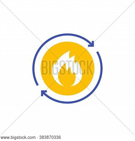 Metabolism Vector Icon On White, Eps 10 File, Easy To Edit