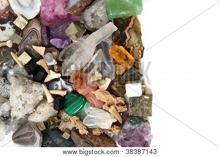 color gems as very nice natural mineral background poster