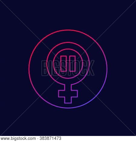 Menopause Icon, Climacteric Line Vector, Eps 10 File, Easy To Edit