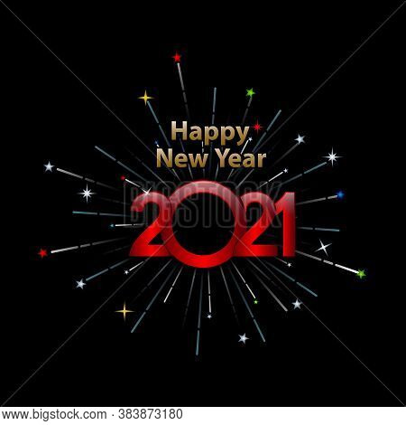 Happy New Year 2021, 2021 Text, Happy New Years 2021 Design Vector For Background.