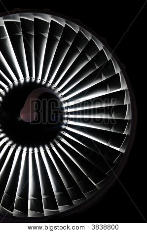 Abstract background of a jet engine in black poster