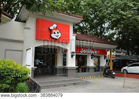 Manila, Ph - Oct 20 - Jollibee Fast Food Restaurant Kalaw Branch Facade On October 20, 2018 In Manil