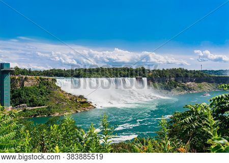 This Is Stunning Amazing Gorgeous View On Niagara Falls Escarpment Landscape On Sunny Summer Day