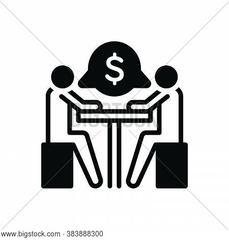 Black Solid Icon For Negotiation Arbitration Compromise Colloquy Conversation Discussion Agreement D