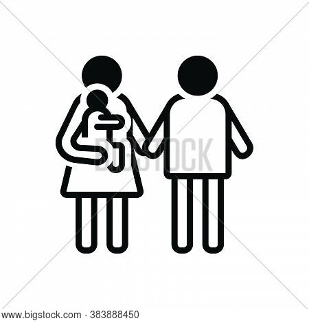Black Solid Icon For Parent Father Mother Ancestor Foster-parent Guardian