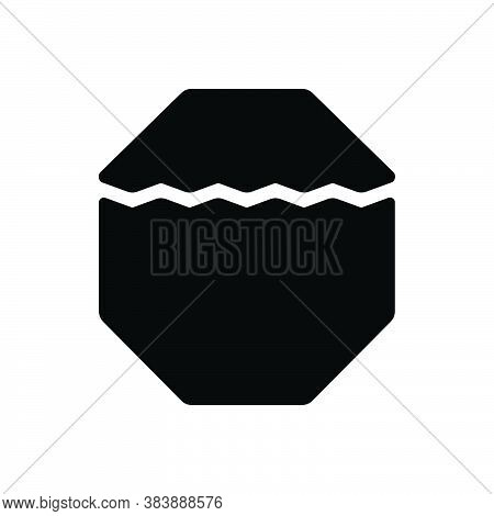 Black Solid Icon For Part Portion Piece Division Share Slice