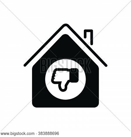 Black Solid Icon For Unlike Dissimilar Bad Disapproval Dislike Down Gesture Thumb Failure