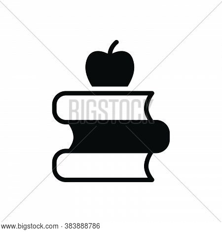 Black Solid Icon For Education Teaching Schooling Books Academic Educational Instructional Scholasti