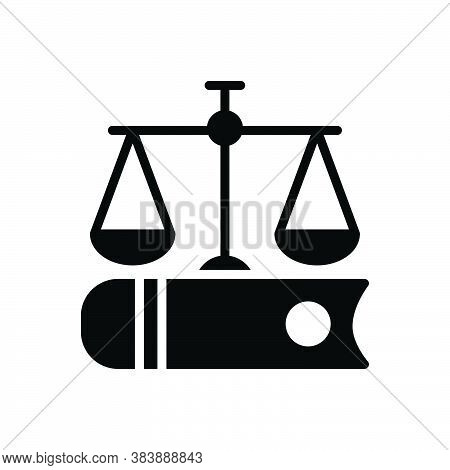 Black Solid Icon For Justice Book Fairly Adequately Justly Justice Law Weight Judge Legal Equilibriu