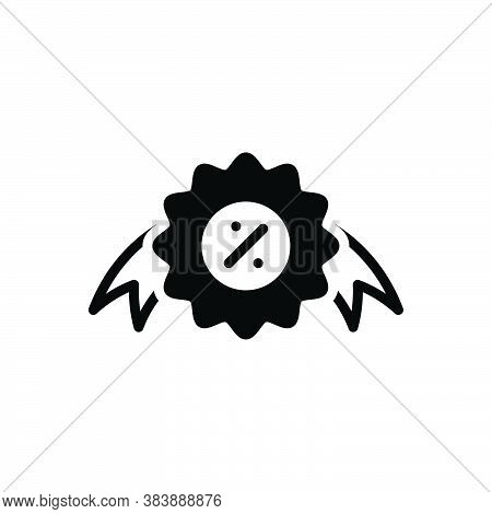Black Solid Icon For Offer Proposal Offering  Sign Bargain Coupon Discount Circle Label Market Price