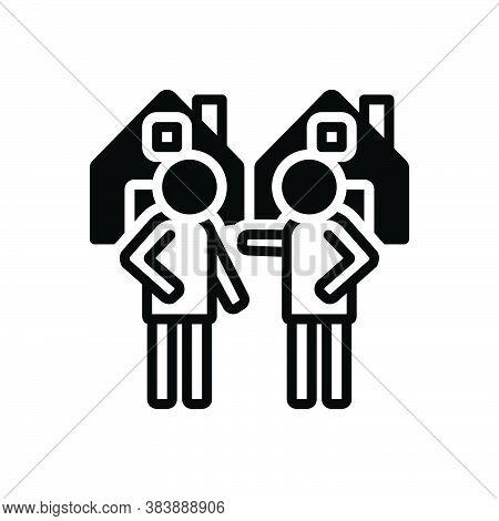Black Solid Icon For Neighborhood Nearness Closeness Neighbor Vicinal Neighbour Neighboring Acquaint