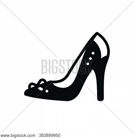 Black Solid Icon For High-heel-shoe High Heel Shoe Footwear Glamour Lady Sandal Female