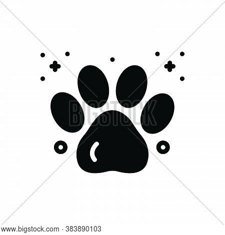 Black Solid Icon For Paw-print Paw Animal Print Foot-print Animal Mark Veterinarian Care Pet