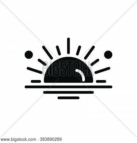 Black Solid Icon For Sun Phoebus Daystar Luminary Climate Light Heat Hot Nature Sunlight Sunshine