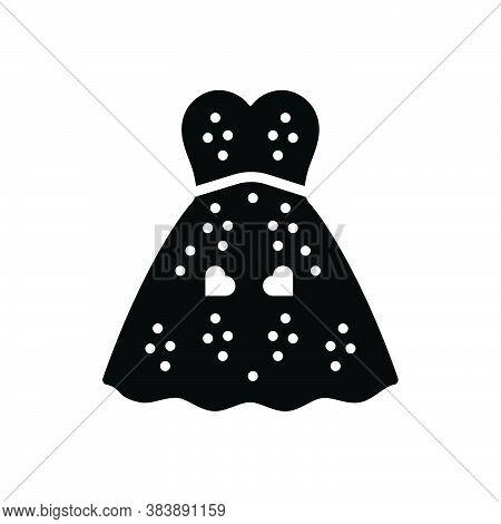 Black Solid Icon For Dress-fun Dress Attire Fashion Cloth Fashionable-dress Garments Costume Habilim