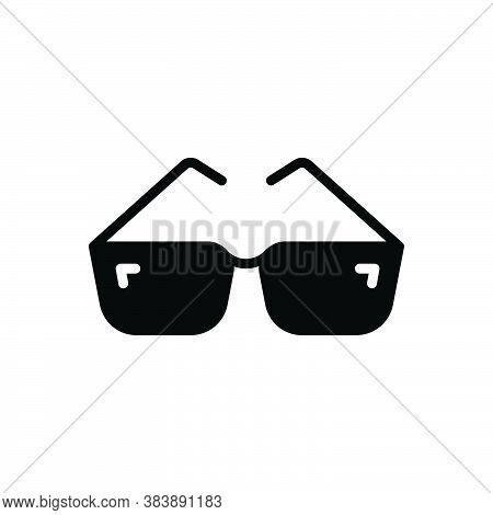 Black Solid Icon For Glasses Eye Optical Fashion Frames Protection Eyewear Style Sunglasses Eyeglass