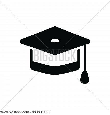 Black Solid Icon For Graduation-cap Cap Achievement Academic Diploma Education Learning Degree Gradu
