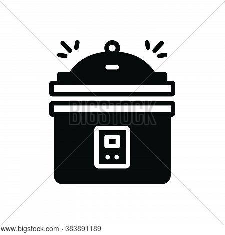 Black Solid Icon For Instant-pot-pressure-cooker Instant Pot Pressure Cooker Steamer Cooking Fire Eq